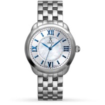 Allurez Women's Mother of Pearl Dial Stainless Steel Boyfriend Watch