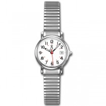 Allurez Women's Classic Round Case Stainless Steel Wrist Watch