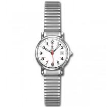 Allurez Women's Classic Round Case Stainless Steel Wrist Watch