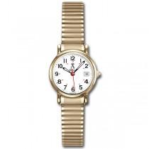 Allurez Women's Classic Round Case Yellow Tone Stainless Steel Watch