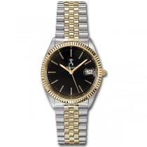 Allurez Men's Two-Tone Stainless Steel Sports Wrist Watch Swiss Made