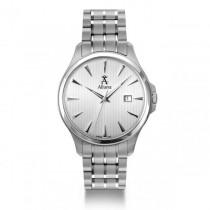 Allurez Men's Stainless Steel Silver Dial Swiss Made Luminous Watch