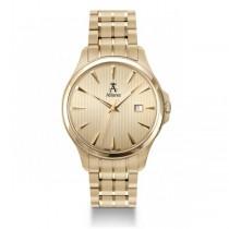 Allurez Men's Gold Tone Stainless Steel Swiss Made Luminous Timepiece