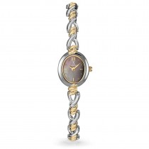 Allurez Women's Mother of Pearl Dial Two-Tone Bracelet Watch