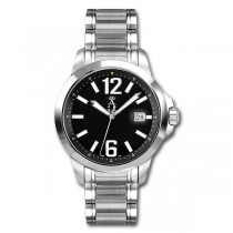 Allurez Men's Stainless Steel Luminous Diver Watch Luxuroius Swiss