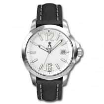 Allurez Men's Stainless Steel & Leather Luminous Diver Watch Luxury