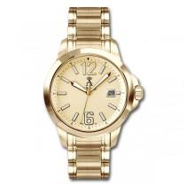 Allurez Men's Gold-Tone Stainless Steel Diver Watch Swiss Made