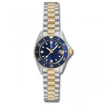Allurez Two-Tone Tachymeter Luxury Diver Watch Stainless Steel Women's