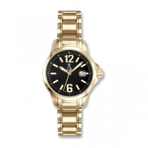 Allurez Unisex Gold-Tone Stainless Steel Diver Watch Swiss Mad