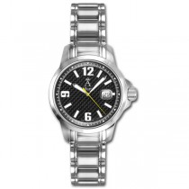 Allurez Women's Stainless Steel Bold-Design Dial Diver Watch Swiss