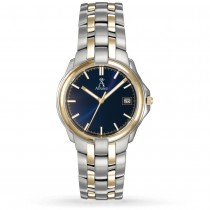 Allurez Women's Blue Dial Two-Tone Stainless Steel Watch