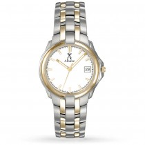 Allurez Women's White Dial Two-Tone Stainless Steel Watch