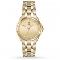 Allurez Men's Champagne Dial Luminous Gold-tone Stainless Steel Watch
