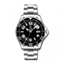 Allurez Men's Tachymeter Diver Watch Swiss Made Stainless Steel Luxury