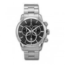Allurez Men's Stainless Steel Bracelet Swiss Chronograph Watch