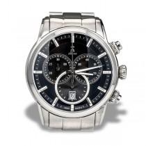 Allurez Men's Stainless Steel Bracelet Swiss Chronograph Watch
