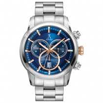 Allurez Men's Swiss Chronograph Luminous Stainless Steel Watch