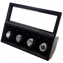 Quad Automatic Watch Winder in Matte Black Finish