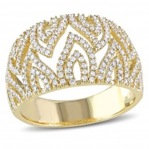 Diamond Modern Fashion Ring 14k Yellow Gold (0.60ct)