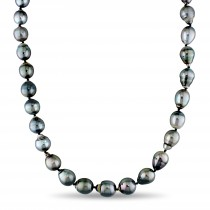 Graduated Baroque Tahitian Pearl Strand Necklace (8-11mm)