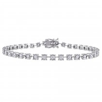 Diamond Link Tennis Bracelet 18k White Gold (1.14ct)