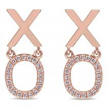 Diamond XO Fashion Post Earrings 14k Rose Gold (0.11ct)