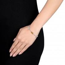 Marquise Citrine & Rhodolite Bracelet Sterling Silver (4.00ct)