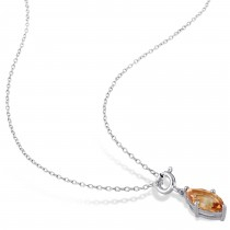 Marquise Citrine Enhancer Pendant Sterling Silver (1.33ct)