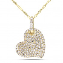 Diamond Heart Pendant 14k Yellow Gold (0.50ct)