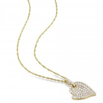 Diamond Heart Pendant 14k Yellow Gold (0.50ct)