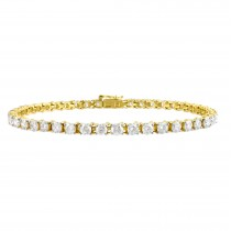 Eternity Diamond Bracelet 14k Yellow Gold (6.00ct)