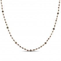 Bead Brown Diamond Necklace 14k Rose Gold (15.00ct)
