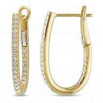 Diamond Cuff Earrings 14k Yellow Gold (0.25ct)