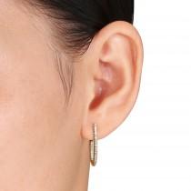 Diamond Cuff Earrings 14k Yellow Gold (0.25ct)
