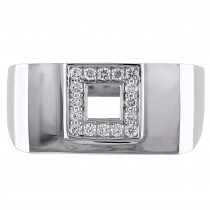 Diamond Mens Fashion Ring 14k White Gold (0.20ct)