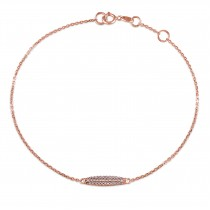Three Row Diamond Bracelet 14k Rose Gold (0.10ct)