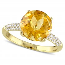 Citrine and Diamond Fashion Ring 14k Yellow Gold (3.53ct)