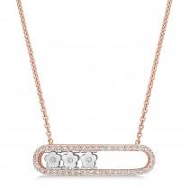 Round Diamond Pendant Necklace 14k Rose Gold (0.25 ct)