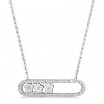 Round Diamond Pendant Necklace 14k White Gold (0.25 ct)