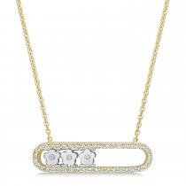 Round Diamond Pendant Necklace 14k Yellow Gold (0.25 ct)