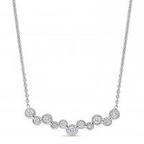 Round Diamond Necklace 18k White Gold (0.35 ct)