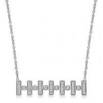 Round Diamond Pattern Necklace 18k White Gold (0.30 ct)