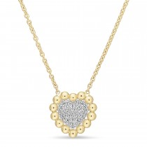Round Diamond Pendant Necklace 18k Yellow Gold (0.14 ct)