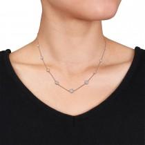 Round Diamond 5-Pendant Necklace 18k Rose Gold (2.30 ct)