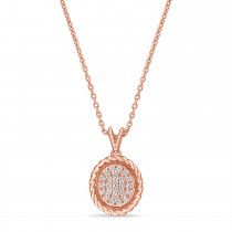 Round Diamond Pendant 18k Rose Gold (0.16ct)