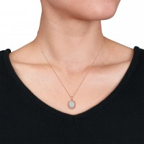 Round Diamond Fashion Pendant 18k Rose Gold (0.25 ct)