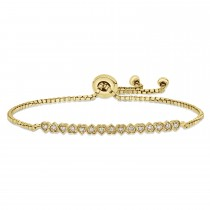 Round Diamond Heart Bracelet 18k Yellow Gold (0.10 ct)