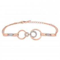 Round Diamond Bracelet 18k Rose Gold (0.30 ct)