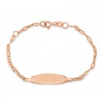 Mariner Link ID Bracelet 18k Rose Gold