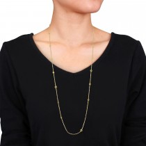 Fancy Circles Necklace 18k Yellow Gold